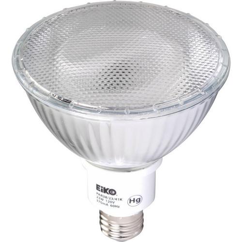 EiKO PAR38/23/27K Fluorescent PAR38 23W 120V 2700K E26 Base, PAR38/23/27K or EiKO