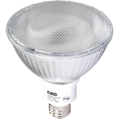 EiKO PAR38/23/50K Fluorescent PAR38 23W 120V 5000K E26 Base, PAR38/23/50K or EiKO