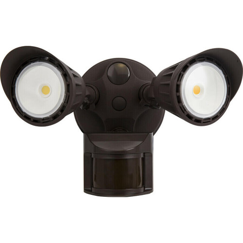 EiKO OWL2-20/20W/850-U-S18-BZ Security Light 2 Head 2000Lm 20W greater100Lpw 80CRI 5000K 120-277V 180Deg Sensor Bronze, OWL2-20/20W/850-U-S18-BZ or EiKO