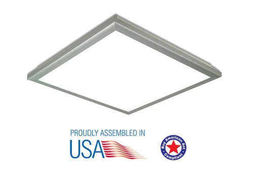 Patriot LED PP-2X4-50W-EM LDS-4000K 50W LED Panel with Attached Driver Premium•_a Emergency Battery Back Up 3 hours work with battery 2X4, 4000K, 130 lm, AC100-277V, greater80 CRI, 0-10V dimming, PP-2X4-50W-EM LDS or Patriot LED