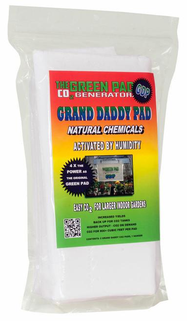 Hydrofarm GP6200 Green Pad Grand Daddy Pad CO2 Generator, pack of 2 pads w/1 hanger GP6200 or The Green Pad