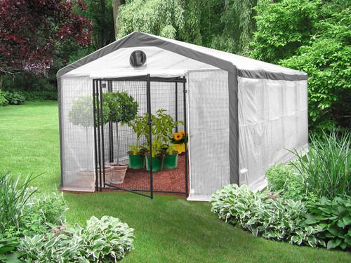 Hydrofarm MSI71020 Saturday Solution Safe Grow Greenhouse, 10 x 20 MSI71020 or Saturday Solution Greenhouses