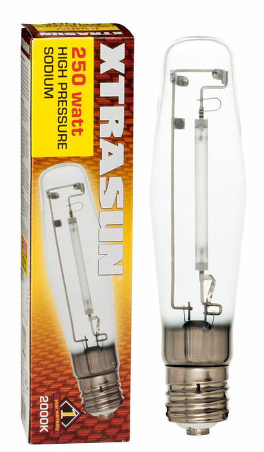 Hydrofarm XTB1040 Xtrasun High Pressure Sodium HPS Lamp, 250W, 2000K XTB1040 or Xtrasun
