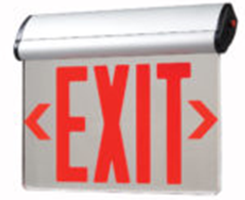 Big Beam Emergency Lighting ELITE2RAL Adjustable EDGE-LIT EXIT SIGNS Commodity Specification Grade, Swivel Adjustable ELITE2RAL Adjustable, Double Face, Battery Backup, Red Letters, Aluminim Housing, Surface Mount or ELITE2RAL or BIGBEAM