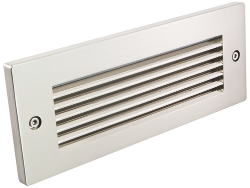 American Lighting BB2-HL-SS BB2 HL SS Horizontal Louver Faceplate in Stainless Steel finish for LED Brick Light; 8 5 8