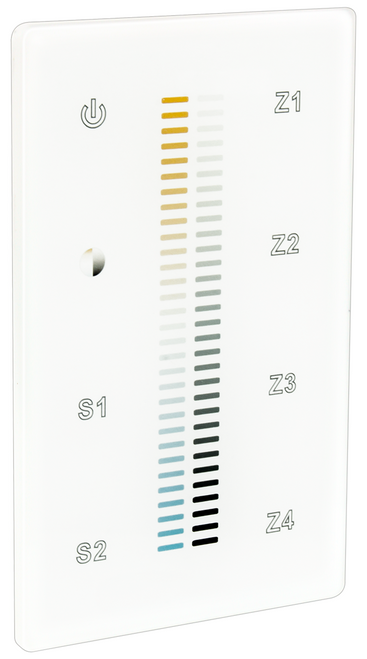 American Lighting DMX-TW-4Z DMX TW 4Z DMX Touch Tunable Control 4 Zone or 714176016122 or Touch On Off control, Touch slide control provides full range dimming and temperature selection 2700K 6000K, RF signal up to 65 feetor American Lighting
