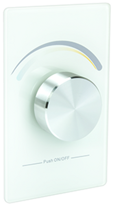 American Lighting TWRF-BATT TWRF BATT TUNABLE WHITE RF WALL CONTROL, WHITE, REQ RF 5A 4Z,INDOOR USE, CR2032 BATT INCL or 714176006345 or Trulux tunable dial control for tunable CCT light control, single zone operation, or American Lighting