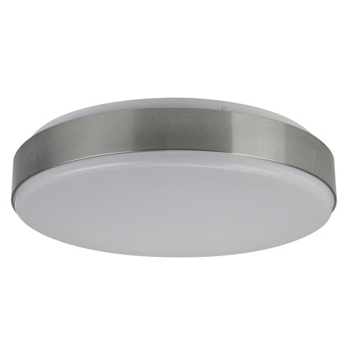 Wave Lighting 178FM-LR24W-BN OCEANA LOW PROFILE LED - BRUSH NICKEL W/OPAL LENSor Wave Lighting or 178FM-LR24W-BN