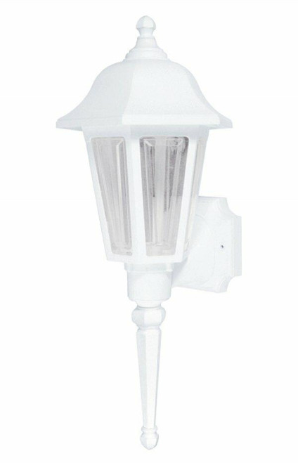 Wave Lighting 230SC-WH-PC Providence Wall Lantern - White W/Clear Lens Pcor Wave Lighting or 230Sc-Wh-Pc