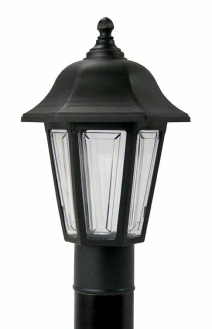 Wave Lighting 230TC-BK PROVIDENCE POST LANTERN - BLACK W/CLEAR LENSor Wave Lighting or 230TC-BK