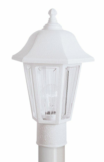 Wave Lighting 230TC-WH PROVIDENCE POST LANTERN - WHITE W/CLEAR LENSor Wave Lighting or 230TC-WH