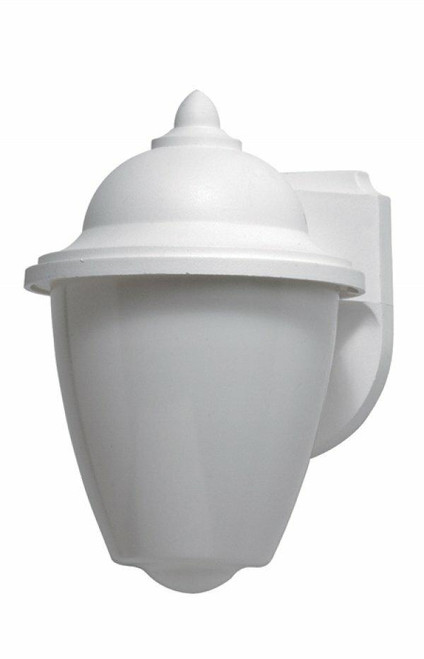 Wave Lighting 785-WH-PC Park Point Wall Lantern - White W/Opal Lens W/Pcor Wave Lighting or 785-Wh-Pc
