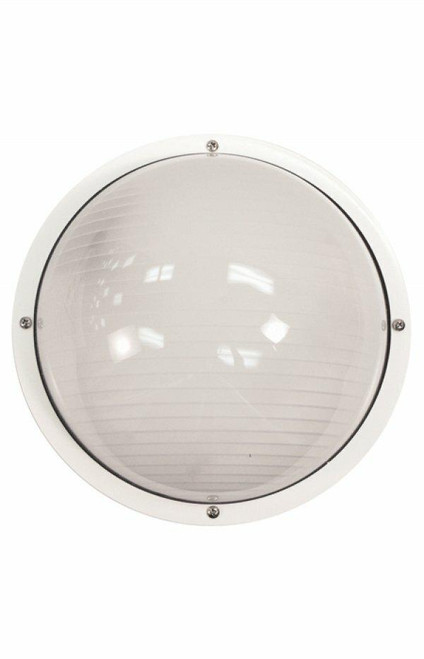 Wave Lighting S791WF-WH NAUTICAL ROUND WALL/CEILING - WHITE W/FROST LENSor Wave Lighting or S791WF-WH