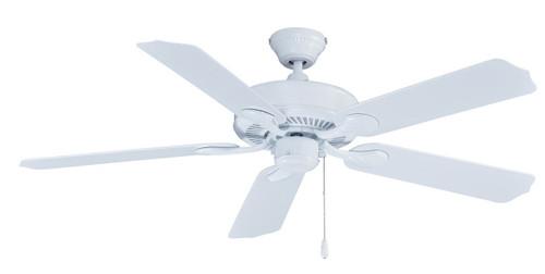RP LightingFans 1015W-WW Sunset White Ceiling Fan 52 inch Sweep - 1015W-WW