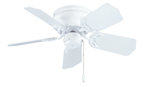 RP LightingFans 1064WW Royal Knight Hugger I White Ceiling Fan 30 inch Sweep - 1064WW