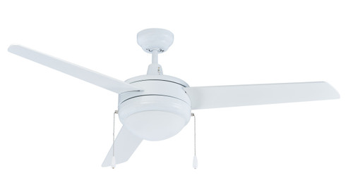 RP LightingFans 1079WW-E26-L Contempo White Ceiling Fan 50 inch Sweep - 1079WW-E26-L