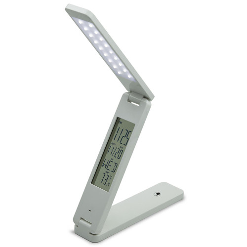Sunlite CAL/LED/TL LED Foldable Table Lamp with Calendar, Rechargeable, Touch Dimmer