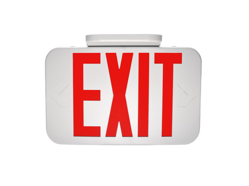 Exit, Thermoplastic, Red Letters, White, Remote Head Capable EX-RWRC by Maxlite
