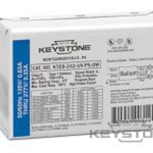 Keystone Technologies KTEB-242-UV-PS-DW 1 or 2 Lite 42W 4-Pin CFL, No Studs No Leads Fluorescent Ballasts