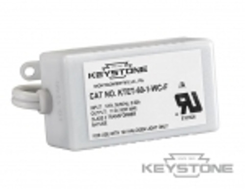 Keystone Technologies KTET-60-1-WC-F 60W Transformer, 12V Output, With Input & Output cable Transformers