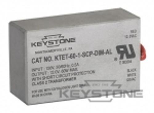 Keystone Technologies KTET-60-1-SCP-DIM-AL 60W Transformer, 12V Output, Class 2, Dimmable Transformers