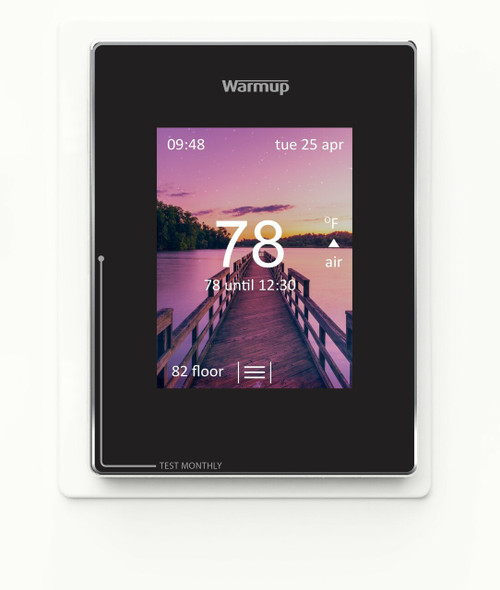 Warmup 4iE-V04-BL-01 WarmUp 4iE-V04BL Warmup 4iE Portrait Smart WiFi Thermostat, 120V/240V with sensor probe and instructions Onyx Black with GFCI