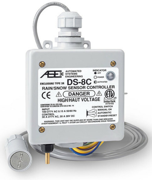 Warmup ASE-DS8 WarmUp ODC-ASE-DS8C Roof and Gutter controller with 30A resistive load capacity