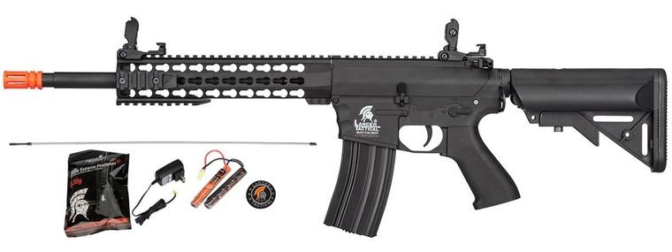 LT-12BKL-G2 Lancer Tactical M4 EVO AEG Airsoft Rifle 6mm Gun + 9.6Volt + Charger