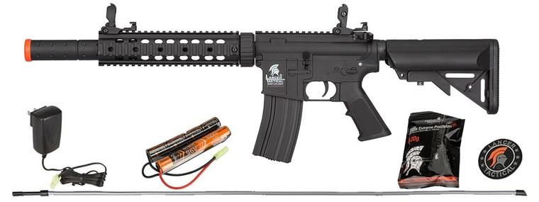 LT-15CBL-G2 GEN2 Lancer Tactical Airsoft Rifle M4 SD AEG 6mm Gun + Battery Kit