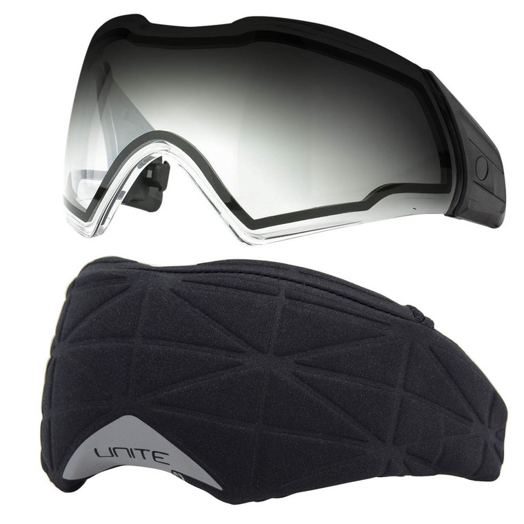 PUSH Unite Paintball Goggle / Mask Thermal Clear Fade Lens with Cover