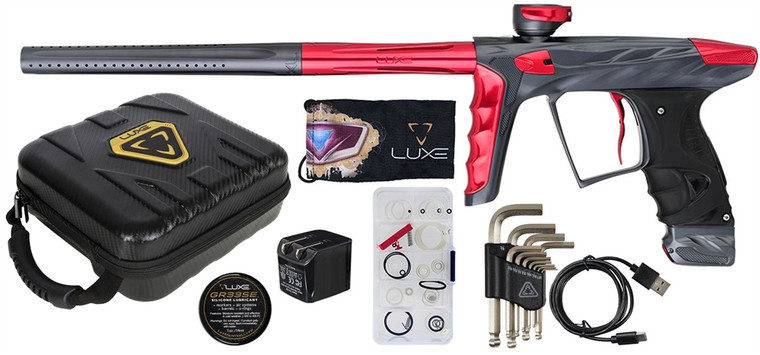 A51 HK LUXE X Paintball Marker .68 Caliber Gun - Dust Pewter and Red