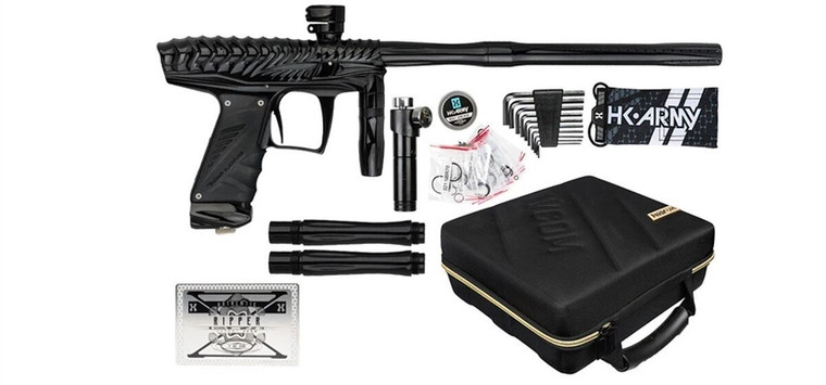 HK VCOM Ripper Paintball Marker (Bob Long Marq Gun) - Polish Black on Black