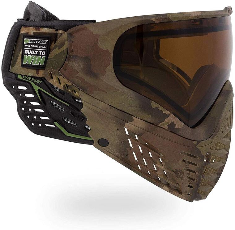 Virtue VIO Contour II Thermal Paintball Goggles Mask with Dual Pane Lens - Reality Brush Camo