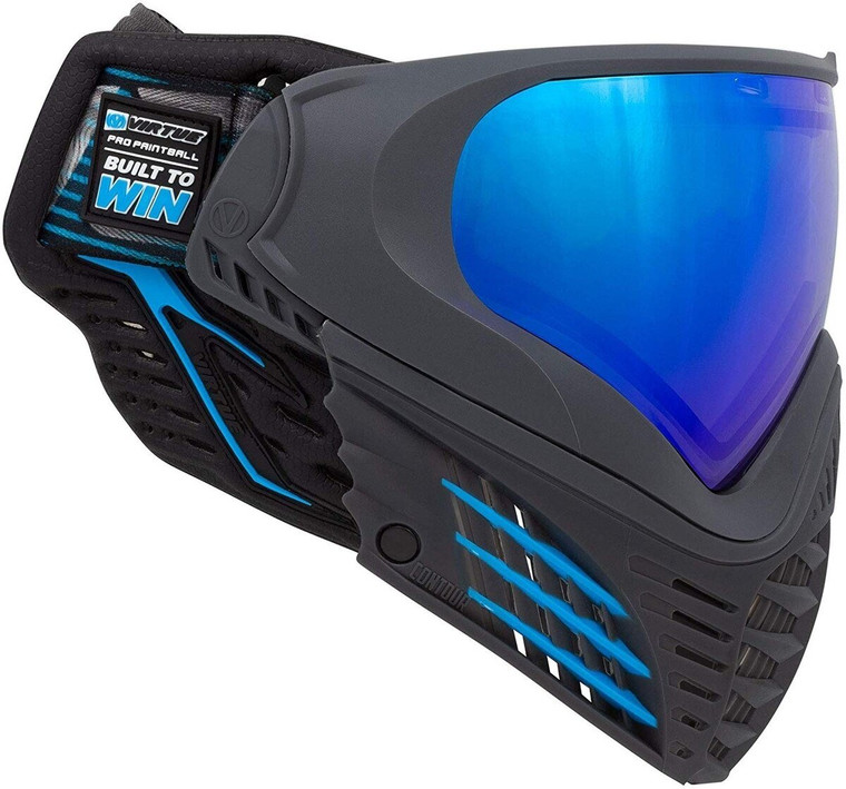 Virtue VIO Contour II Thermal Paintball Goggles Mask with Dual Pane Lens - Blue ICE