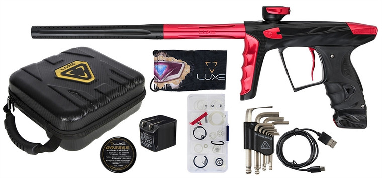 A51 HK LUXE X Paintball Marker .68 Caliber Gun - Dust Black and Red