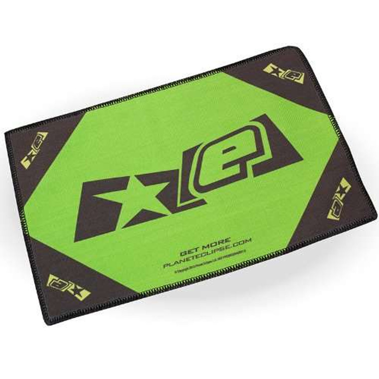 Planet Eclipse Microfiber Goggle Cloth by Exalt - Player Size - Black / Lime