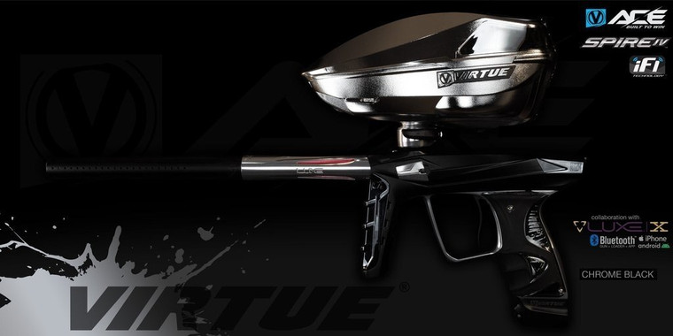 Virtue ACE Luxe X with Limited Edition Spire IV Hopper - Chrome Black
