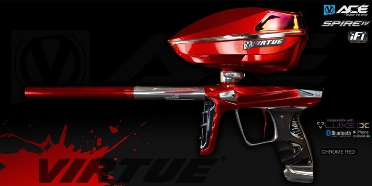 Virtue ACE Luxe X with Limited Edition Spire IV Hopper - Chrome Red