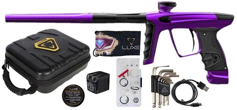 New DLX LUXE X Paintball Marker Gun - Dust Purple / Polished Black