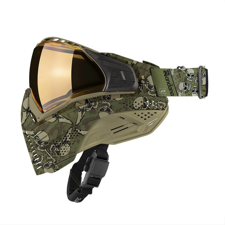 PUSH UNITE Paintball Goggles Mask with QUAD Pane Lens and Case - Sandana