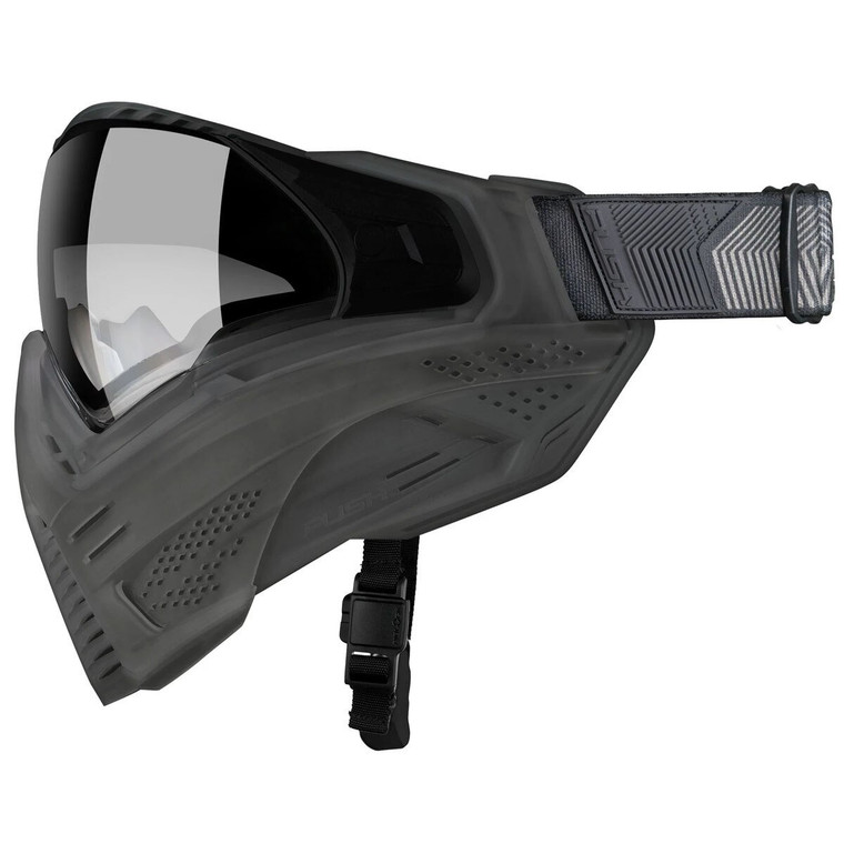 PUSH UNITE Paintball Goggles Mask with QUAD Pane Lens and Case - FLX SMOKE