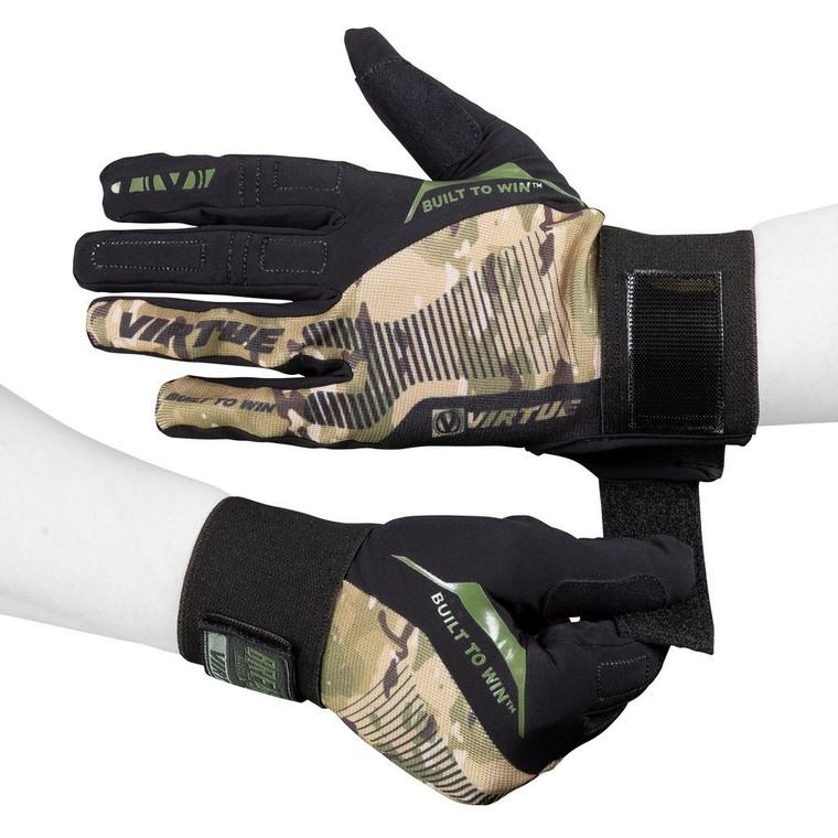 Virtue Paintball Breakout Gloves - Ripstop Full Finger - Camo - Large