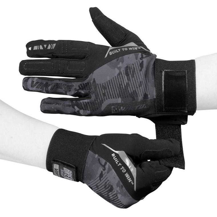 Virtue Paintball Breakout Gloves - Ripstop Full Finger - Black Camo - Large