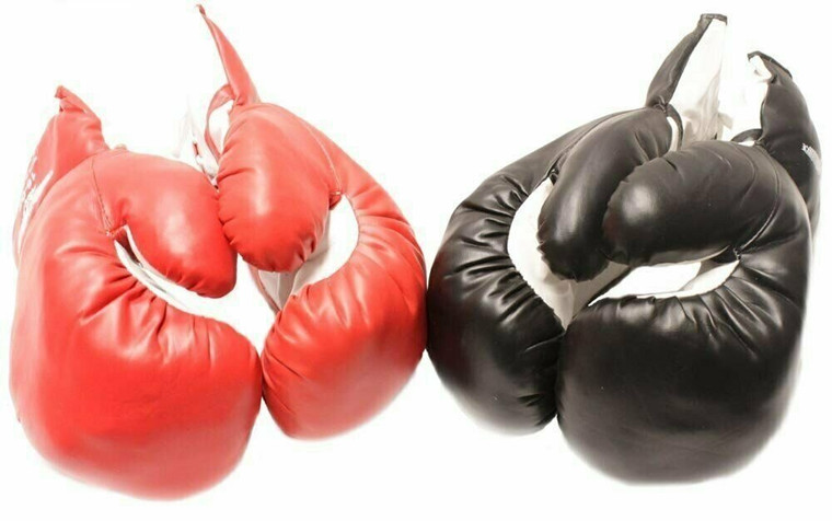 Adult 16oz - 2 Pair of New Boxing / Punching Gloves and Fitness Training Red and Black