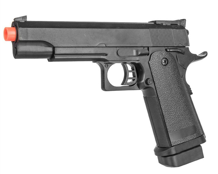 P2001A Spring Powered Tactical Airsoft Pistol w/ 6mm BBs + Detachable Magazine
