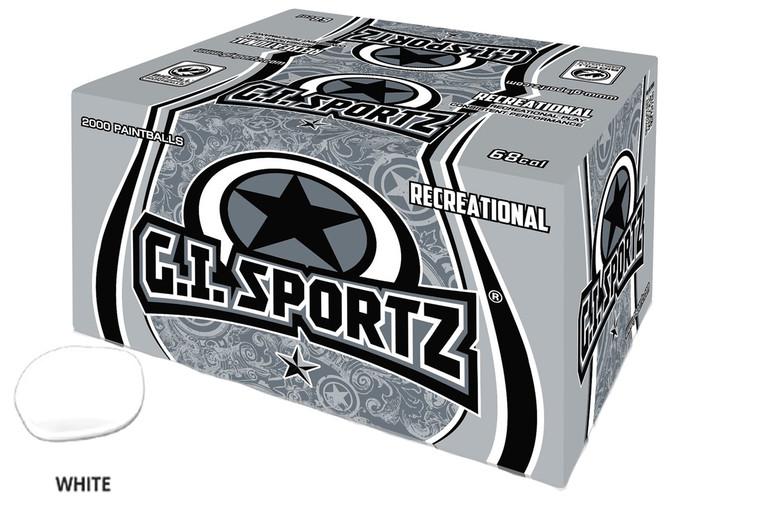 GI SPORTZ 1 STAR RECREATIONAL PAINTBALLS 2000 Rounds - WHITE FILL