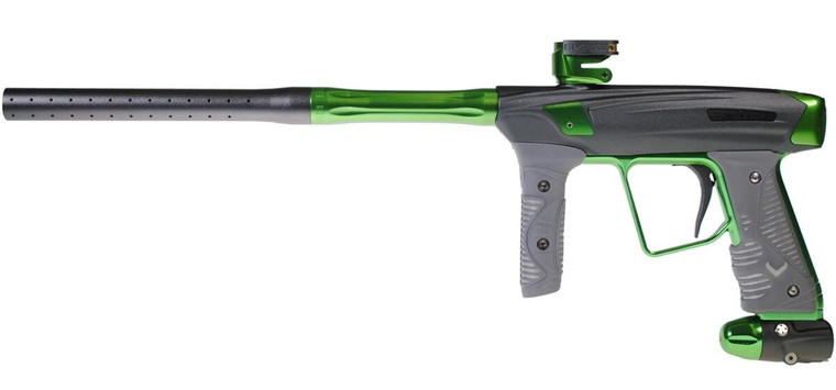 Used Empire Vanquish GT V16 Paintball Gun with Case  - Grey / Lime