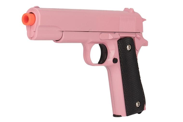 Pink UKARMS COLT 1911 Metal Airsoft Spring Pistol M1911 M9 Gun - G13P + .12G BBS