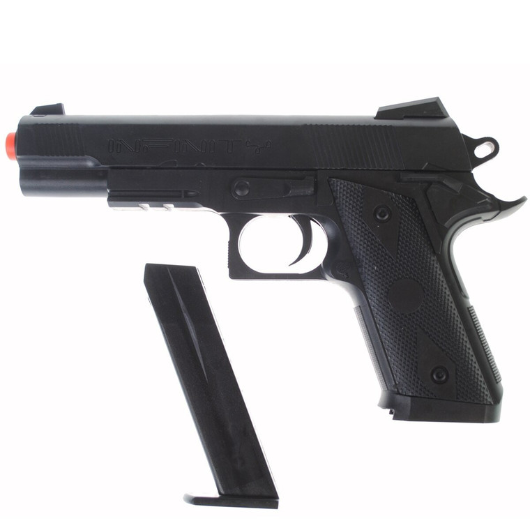 Dark Ops Airsoft P338 Airsoft Hand Gun Full Size Spring Pistol w 6mm BBs BB