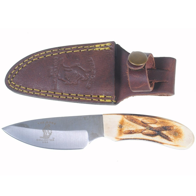 New Bone Collector Hand Made Skinning Knive Hunting Knife + Leather Sheath BC808